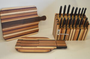 Cutting Board and Knife Block