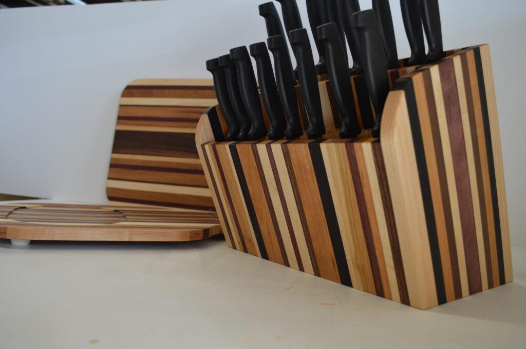 Cutting Board and Knife Block